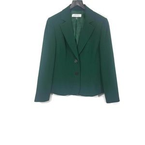 Kasper Green Two Button Blazer Size 10